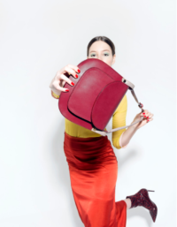 Anglet Burgundy Cross Body Bag 4
