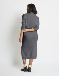 Blair Cashmere Sweater Dress In Charcoal 3