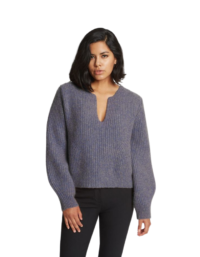 Kaya Ribbed Pure Cashmere Sweater in Cobalt Blue