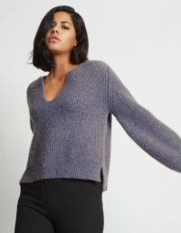 Kaya Ribbed Pure Cashmere Sweater in Cobalt Blue 4
