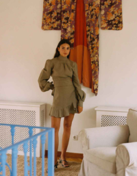 The Gabri Wrap Blouse in Taupe 5